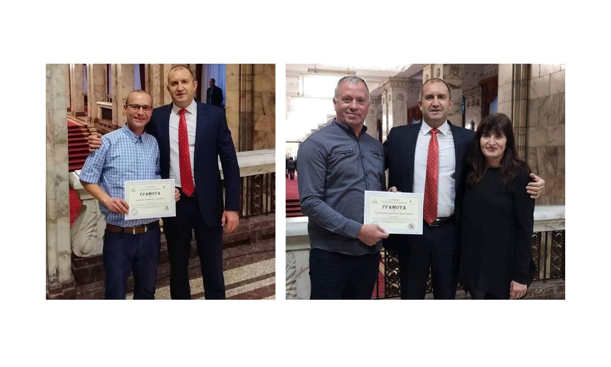 В деня на доброволците, Президентът награди членове на съюза